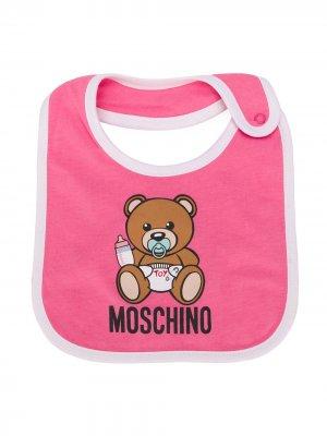 Нагрудник с принтом Moschino Kids. Цвет: розовый