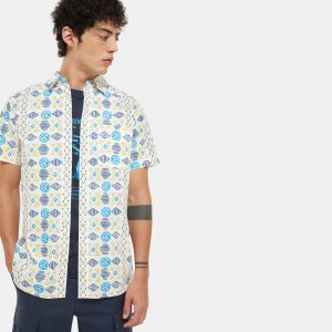 Мужская рубашка с коротким рукавом Baytrail Pattern Shirt The North Face. Цвет: белый