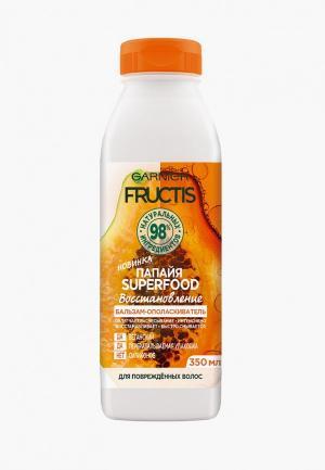 Бальзам для волос Garnier FRUCTIS SUPERFOOD, поврежденных волос, Папайя, 350 мл. Цвет: прозрачный