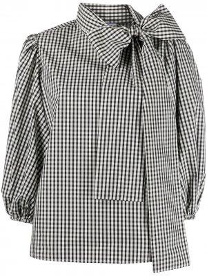 Gingham pussy-bow blouse RedValentino. Цвет: черный