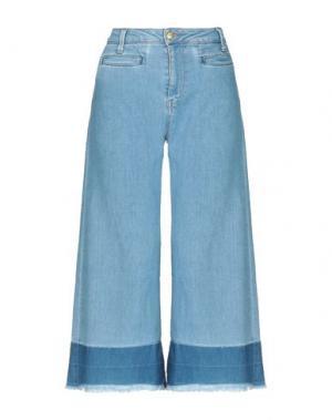 Джинсовые брюки-капри PEPE JEANS. Цвет: синий