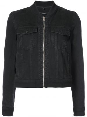 Zipped denim jacket J Brand. Цвет: чёрный