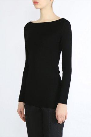 Черный пуловер с вырезом-лодочкой Gentryportofino
