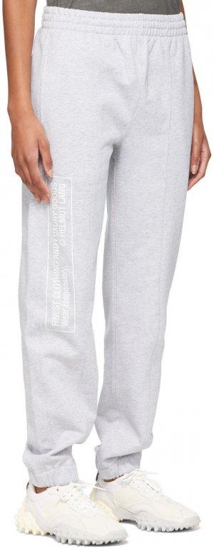 Grey School Lounge Pants Helmut Lang. Цвет: vapor heat