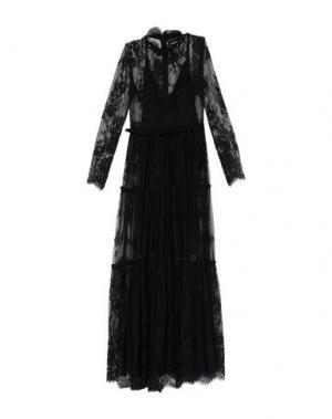 Длинное платье ANNA RACHELE BLACK LABEL. Цвет: черный