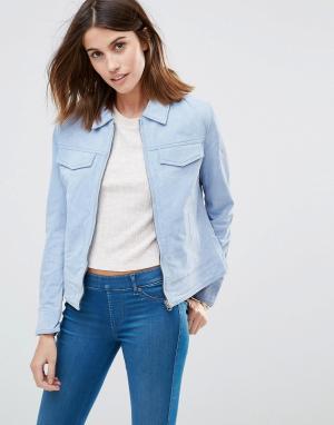 Кожаная куртка Jessica Pepe Jeans. Цвет: фиолетовый