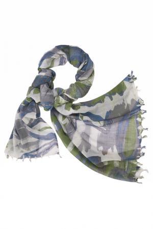 Палантин Michel Katana. Цвет: белый, серый, синий
