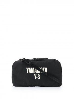 Кошелек с логотипом Y-3. Цвет: черный