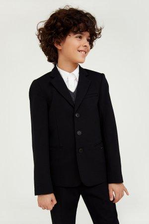 Пиджак для мальчика Finn-Flare. Цвет: черный