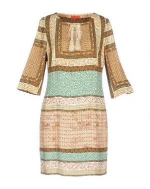Короткое платье ALBA CONDE. Цвет: какао