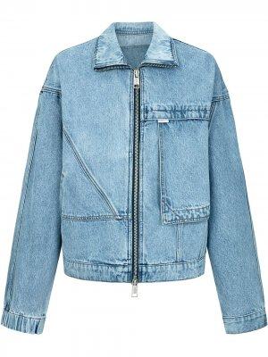 Джинсовая куртка оверсайз PortsPURE. Цвет: синий