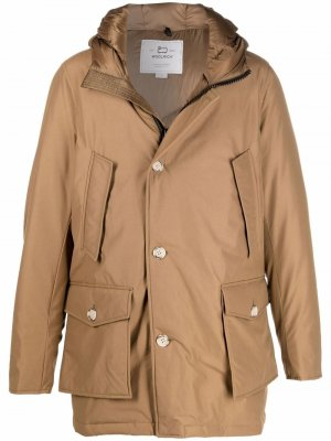 Zip-up down jacket Woolrich. Цвет: коричневый