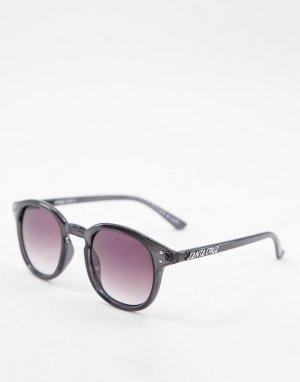 Солнцезащитные очки в прозрачной черной оправе Watson-Черный цвет Santa Cruz