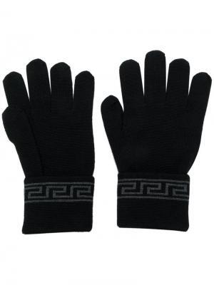 Перчатки Grecca Versace. Цвет: черный