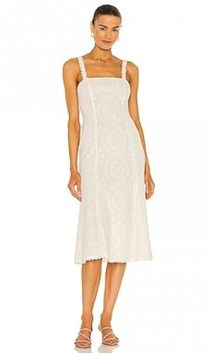 Платье миди beth MAJORELLE. Цвет: белый