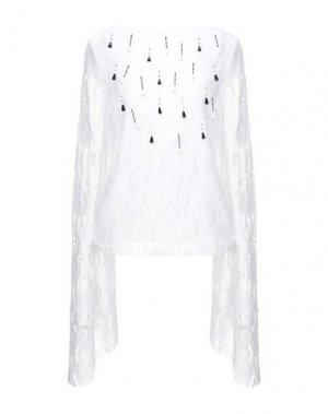 Блузка AU JOUR LE. Цвет: белый
