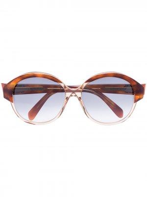 Солнцезащитные очки Maillons Triomphe в круглой оправе Celine Eyewear. Цвет: коричневый