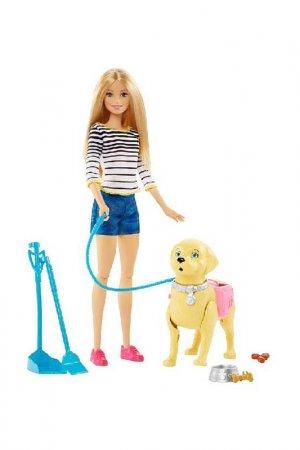 Набор Прогулка с питомцем Barbie. Цвет: бежевый