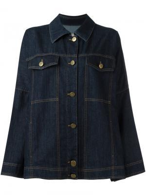 Объемная джинсовая куртка Lanvin. Цвет: синий