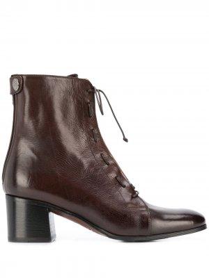 Ботильоны на шнуровке Alberto Fasciani. Цвет: коричневый