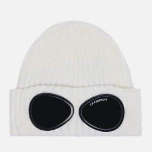 Шапка Extra Fine Merino Wool Goggle C.P. Company. Цвет: белый
