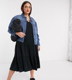 Синяя джинсовая куртка в стиле oversized -Синий Noisy May Curve