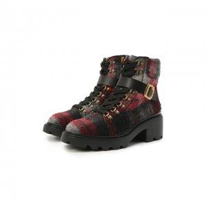 Текстильные ботинки Tod's. Цвет: серый