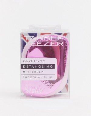 Компактная розовая щетка для распутывания волос -Розовый Tangle Teezer
