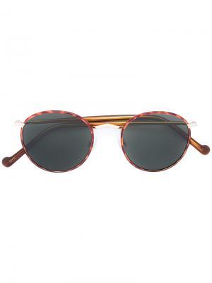 Солнцезащитные очки Zev Moscot. Цвет: коричневый