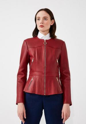 Куртка кожаная Max&Co. Цвет: бордовый