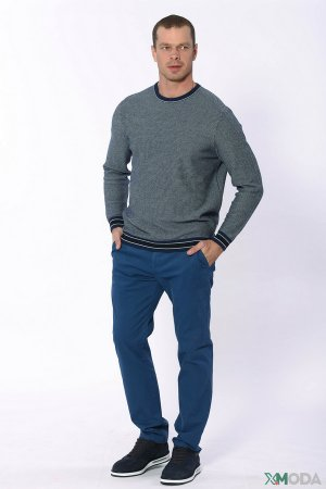 Классические брюки Bugatti. Цвет: синий