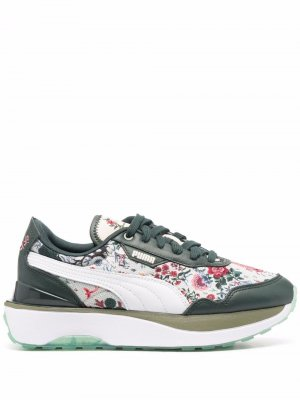 Кроссовки с цветочной вышивкой из коллаборации Liberty PUMA. Цвет: зеленый