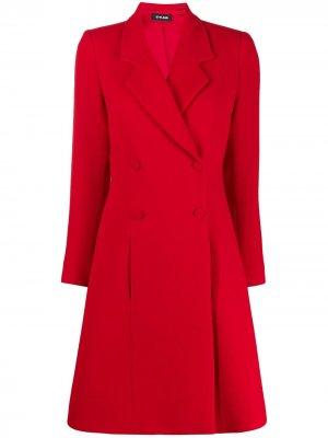 Расклешенное двубортное пальто Styland. Цвет: красный