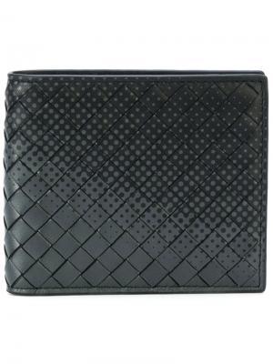 Градиентный кошелек Bottega Veneta. Цвет: серый