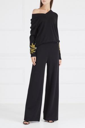 Пуловер с вышивкой на рукавах Akhmadullina DREAMS. Цвет: черный