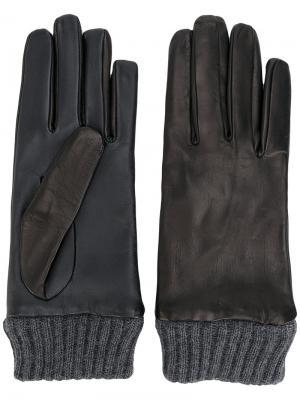 Перчатки с деталями в рубчик Diesel. Цвет: чёрный