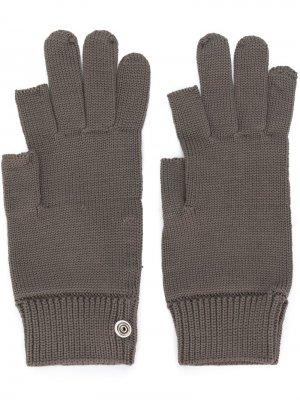 Вязаные перчатки Rick Owens. Цвет: серый