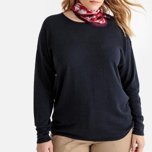 Пуловер с вырезом-лодочкой из тонкого трикотажа CASTALUNA. Цвет: желтый,красный,синий морской