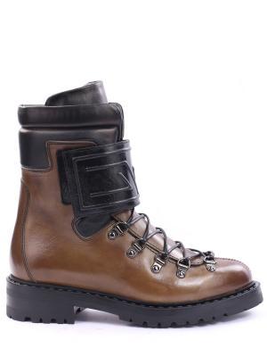 Кожаные ботинки Barracuda. Цвет: коричневый