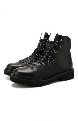 Кожаные ботинки Garavani Valentino. Цвет: черный
