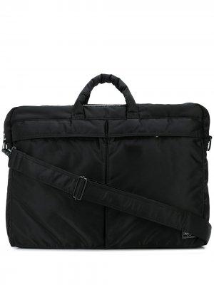Портфель Tanker с ремнем на плечо Porter-Yoshida & Co. Цвет: черный