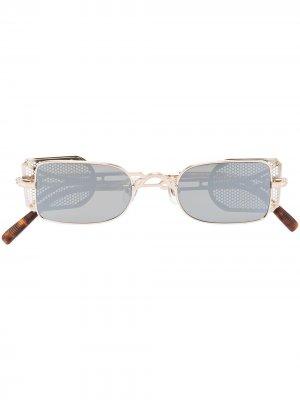 Солнцезащитные очки в прямоугольной оправе Matsuda. Цвет: черный