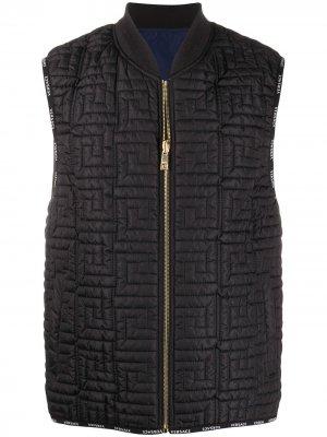 Дутый жилет Greca Key Versace. Цвет: черный