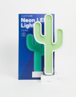 Неоновый светильник в виде кактуса -Зеленый цвет Sunnylife