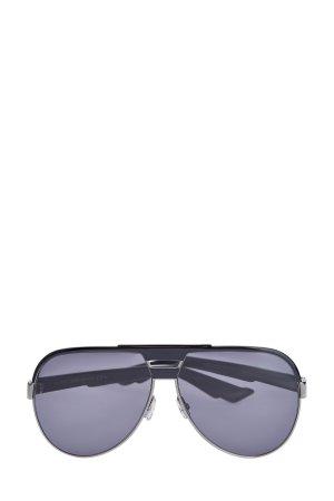 Очки-авиаторы DiorForeRunner с яркими дужками DIOR (sunglasses) men. Цвет: черный