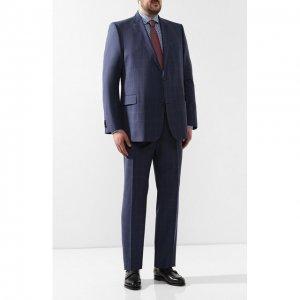 Шерстяной костюм Eduard Dressler. Цвет: синий