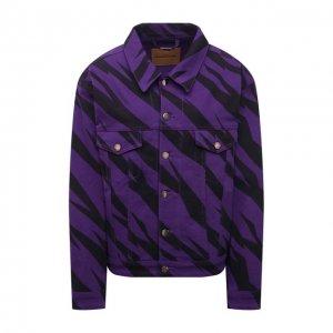 Джинсовая куртка Alexandre Vauthier. Цвет: фиолетовый
