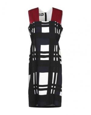 Платье до колена AQUILANO-RIMONDI. Цвет: черный
