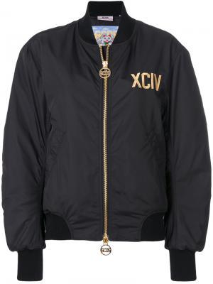 Куртка-бомбер на молнии Gcds. Цвет: черный