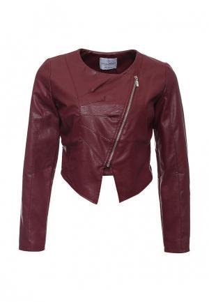 Куртка кожаная Rinascimento RI005EWKHA04. Цвет: бордовый
